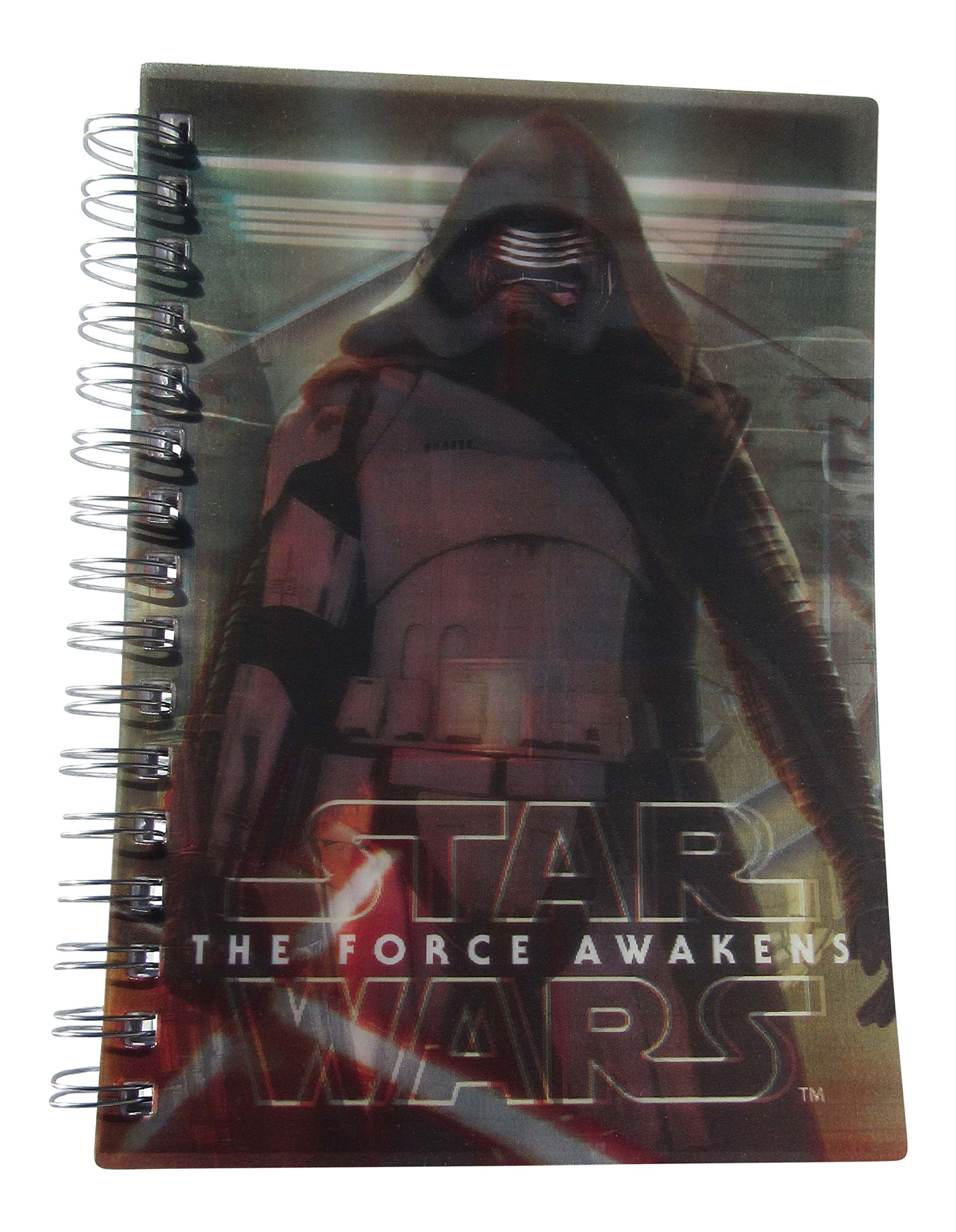 Disney Star Wars Episode VII The Force Awakens - Darth Vadar and Stormtrooper 3D Spiral Journal Notebook - 220 Pages - College Ruled - 8 x 5 Inches
