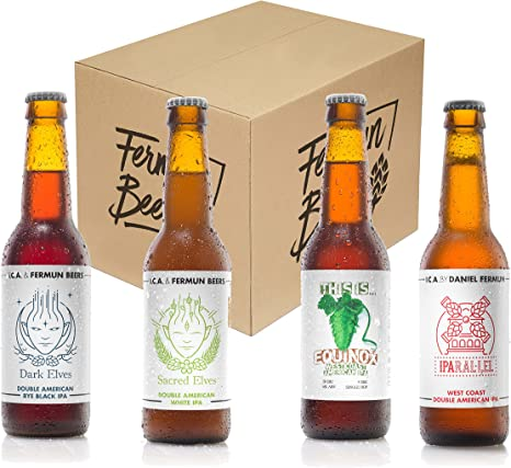 Pack de 4 Botellas 33CL Cerveza Artesana IPA Fermun Beer: Amazon ...