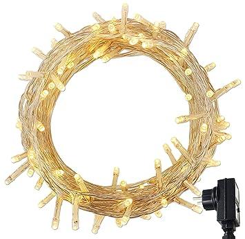 22e5fb66571 RPGT 500 Blanco Cálido LED luz cadenas ligeras de hadas para Navidad  fiestas de boda de jardín Decoración del árbol con función de memoria