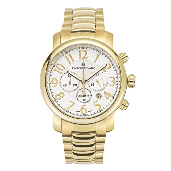 "Giorgio Milano Womens watch""GIOVANNA"" chronograph Large stainless steel case. Dial with Arabic"