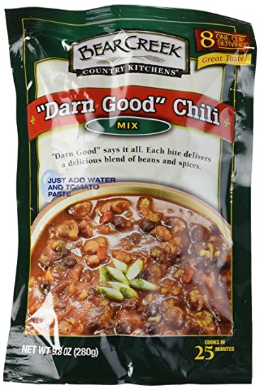 Amazon Com Bear Creek Country Kitchens Darn Good Chili Mix 9 8