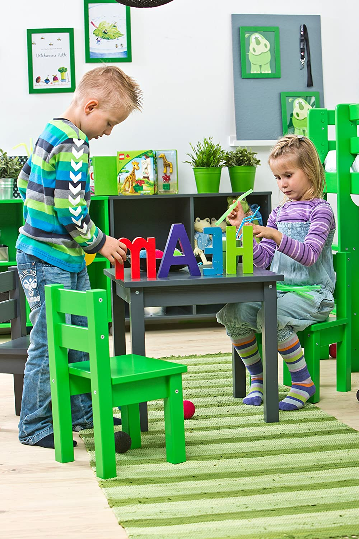 Hoppekids Mads Chaise pour Enfant en MDF Bois Vert