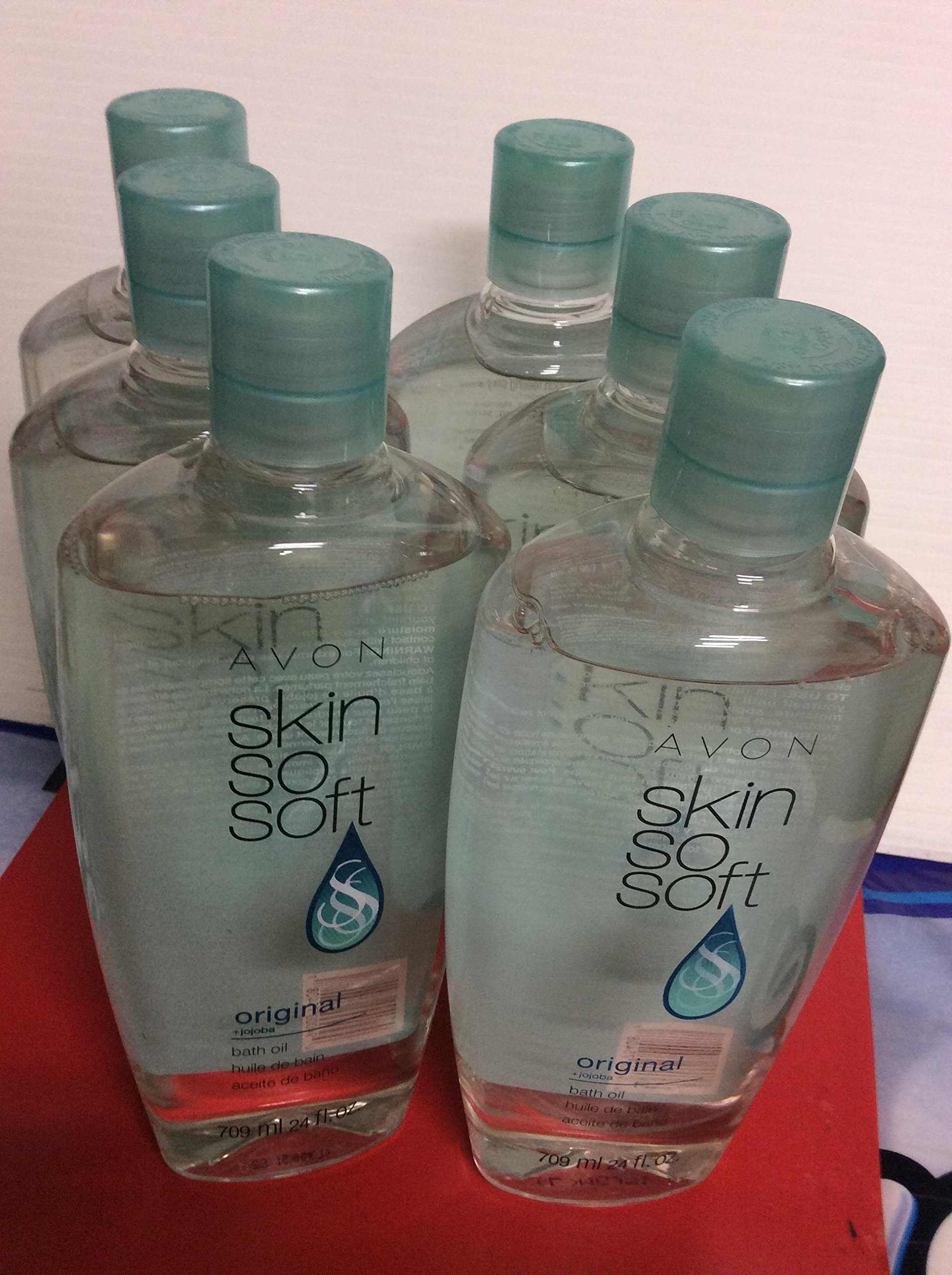 Lot of 6 Avon Sss Skin so Soft Bath Oil Original 24 Oz New