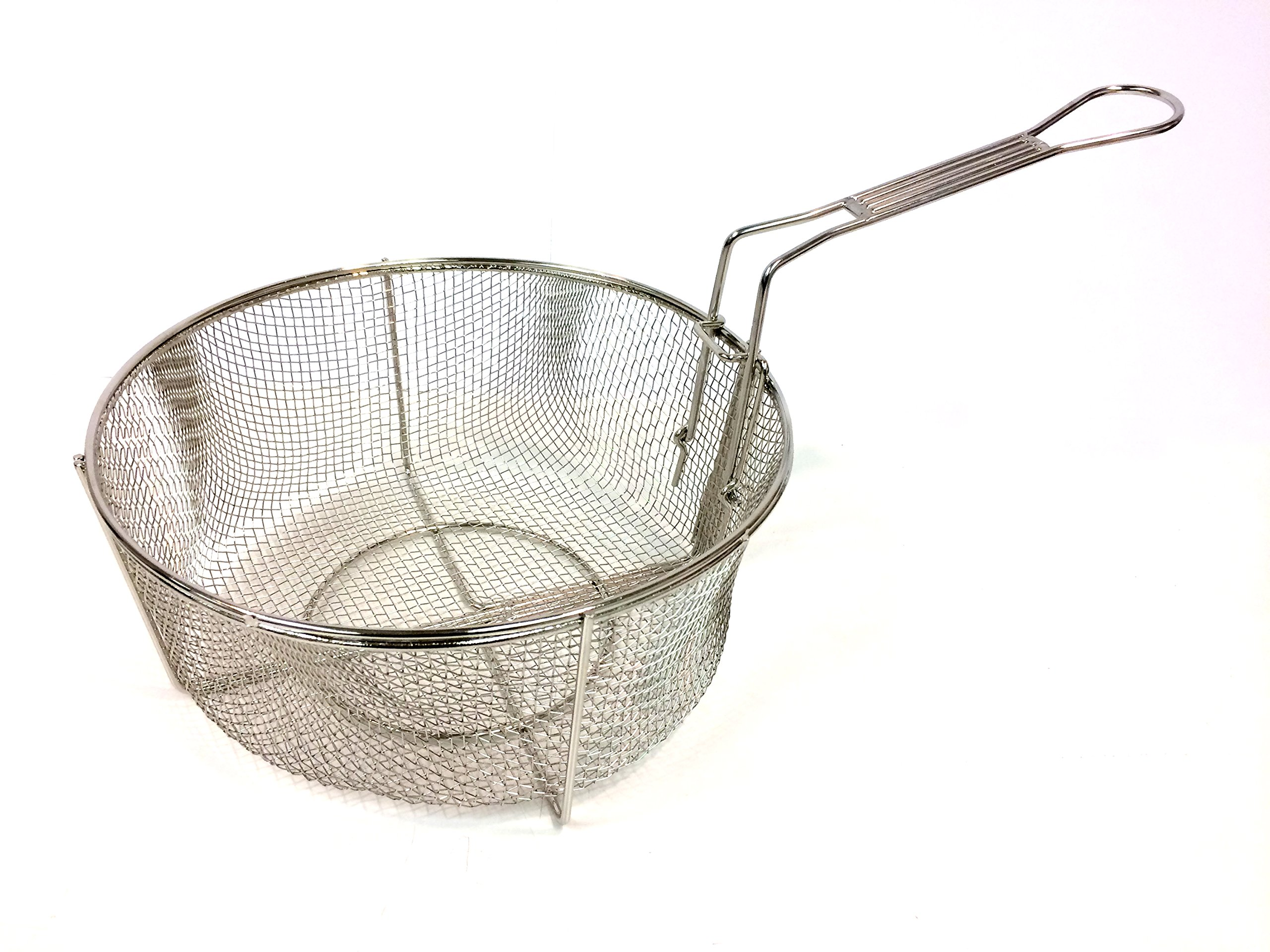 Bayou Classic 126 Nickel Plated Wire Mesh Fry Basket, 12'' by Bayou Classic