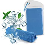 Diswoe New Instant Cooling Towel, Microfiber Ice Towel for Instant Relief, Chilling Neck wrap Cold Scarf for Running, Yoga, Golf, Hiking, Outdoor Activities