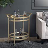 Studio Designs Home 71024 Palazzo Mobile Bar Cart, Gold/Clear Glass Mirror