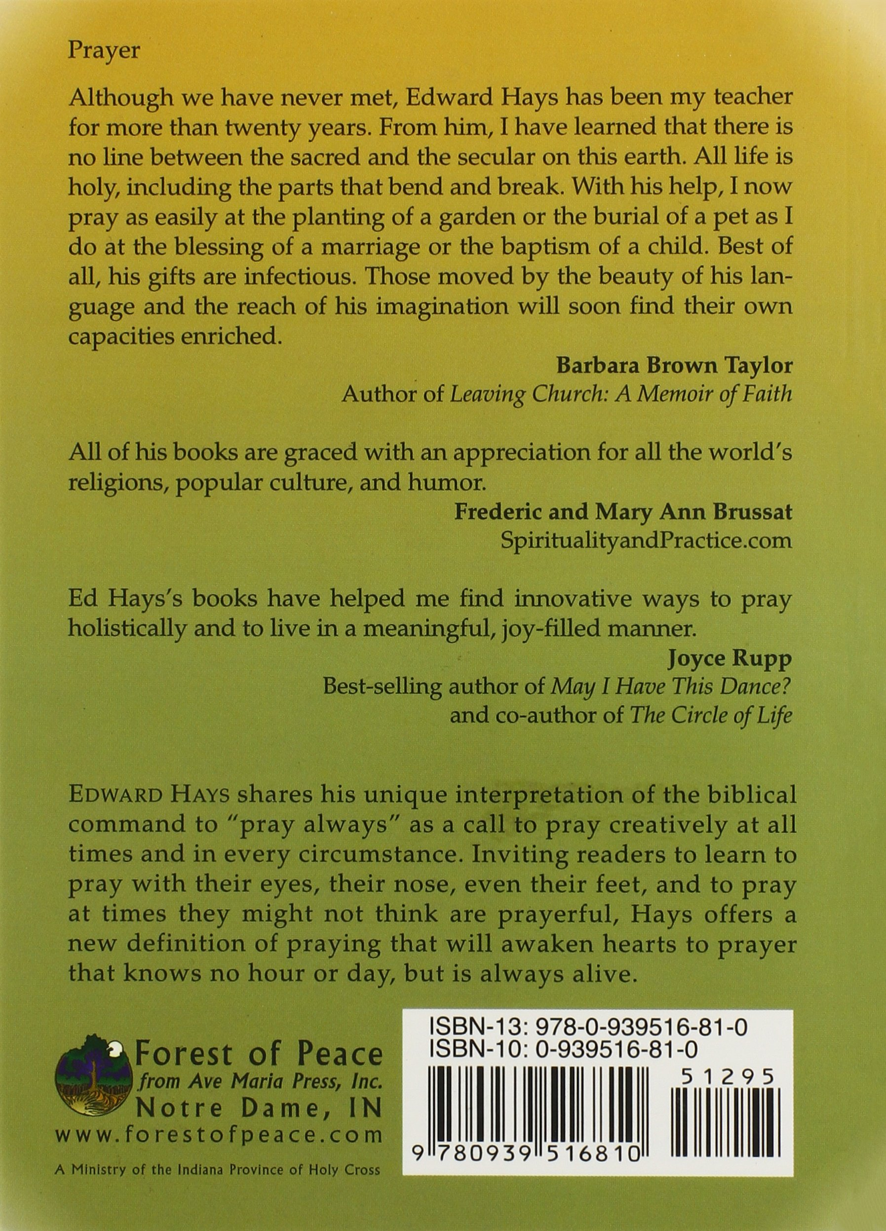 Pray all ways a book for daily worship using all your senses pray all ways a book for daily worship using all your senses edward m hays 9780939516810 amazon books fandeluxe Image collections