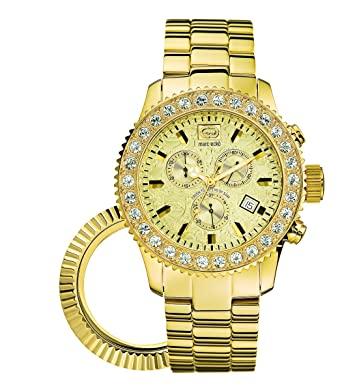 Marc Ecko Mens E22531G1 The Masterpiece Gold Stainless Steel Watch