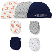 Hudson Baby Cap and Scratch Mitten Set