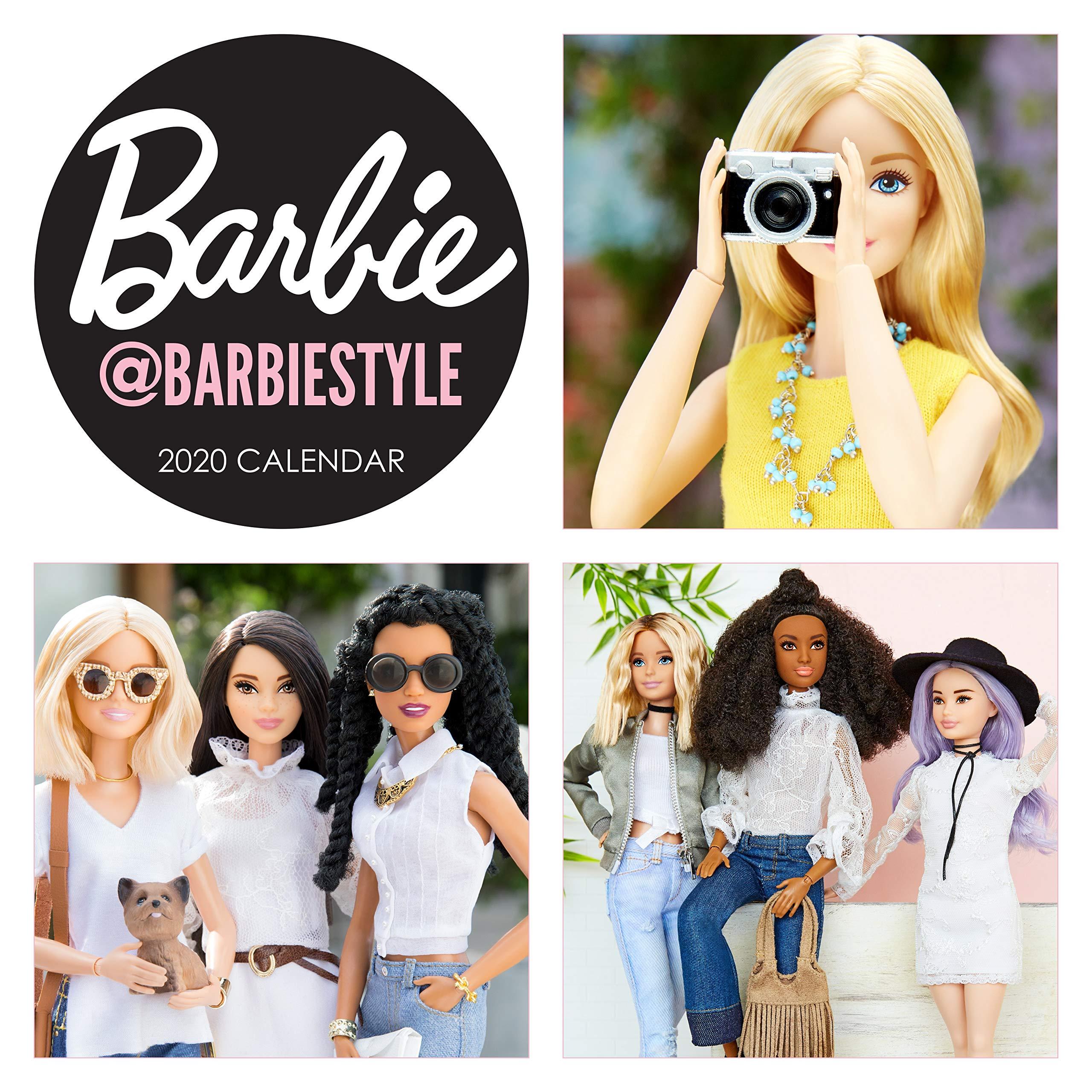 Barbie @barbiestyle 2020 Wall Calendar: Amazon.co.uk: Mattel