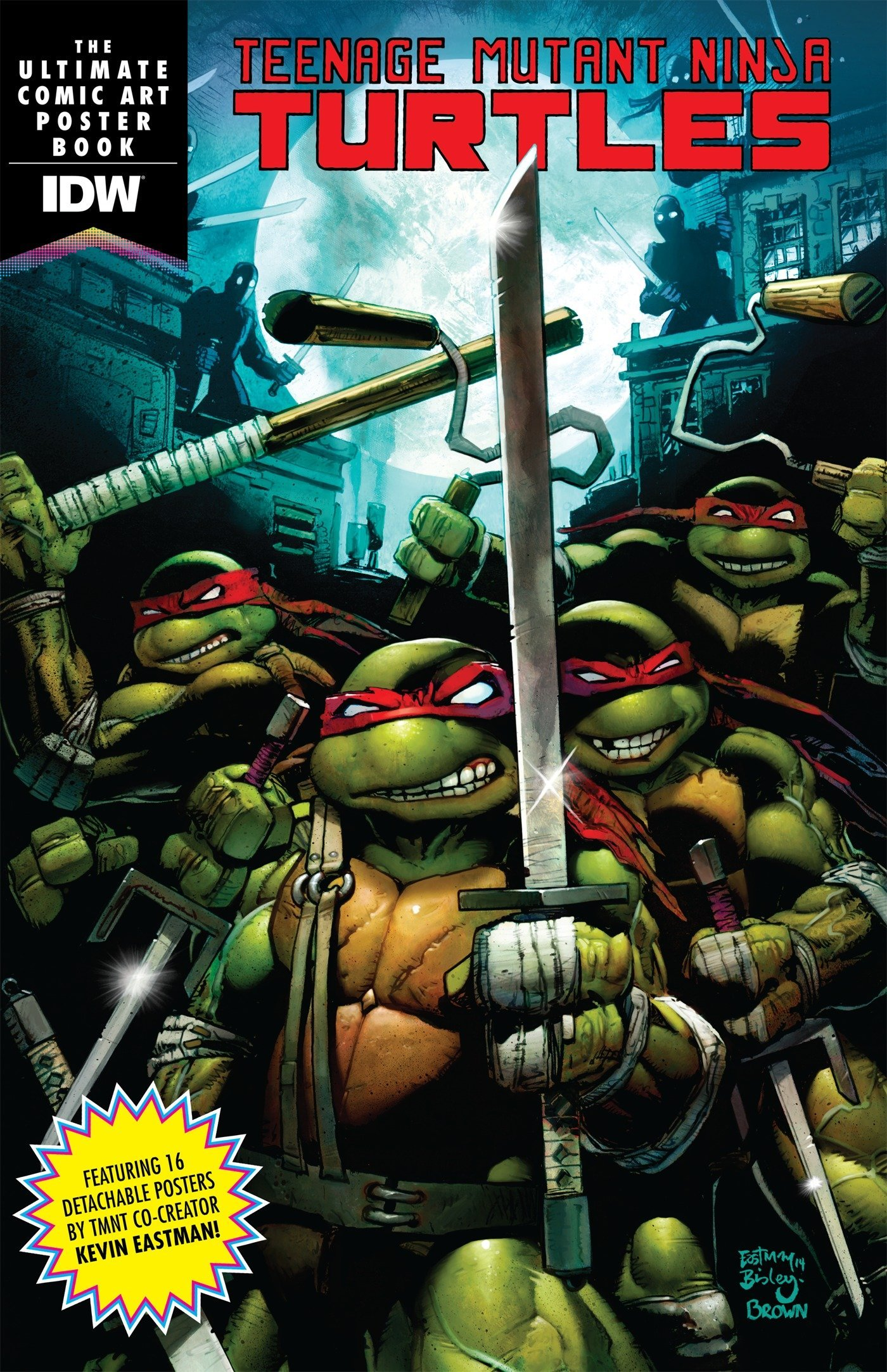 Amazon.com: Teenage Mutant Ninja Turtles Comic Art Poster ...