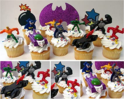 Superhero Justice League 7 Inch Edible Image Cake /& Cupcake Toppers