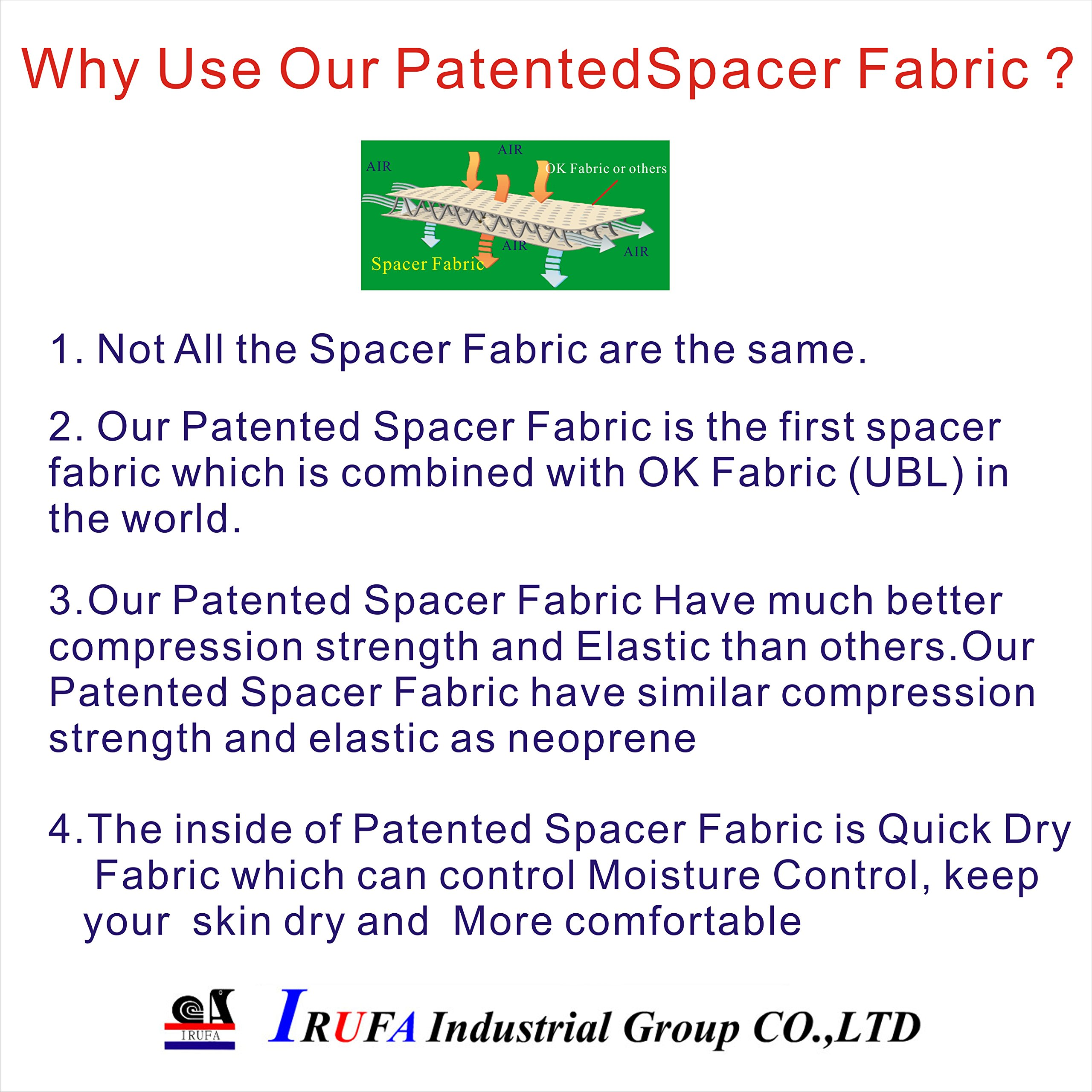 IRUFA,WR-OS-17,3D Breathable Spacer Fabric Wrist Brace, for TFCC Tear- Triangular Fibrocartilage Complex Injuries, Ulnar Sided Wrist Pain, Weight Bearing Strain, One PCS (Spacer Fabric) by IRUFA (Image #8)