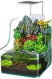 Penn Plax Aqua Terrarium Planting Tank with Aquarium for Fish, Waterfall, LED Light, Filter, Desktop Size, 1.85 Gallon