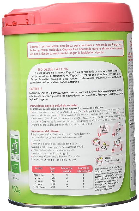 Babybio Caprea Leche 1 Lactantes - 900 gr: Amazon.es: Alimentación y bebidas