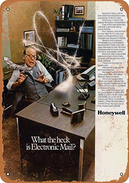 Amazon com: Wall-Color 9 x 12 Metal Sign - 1981 Honeywell Email