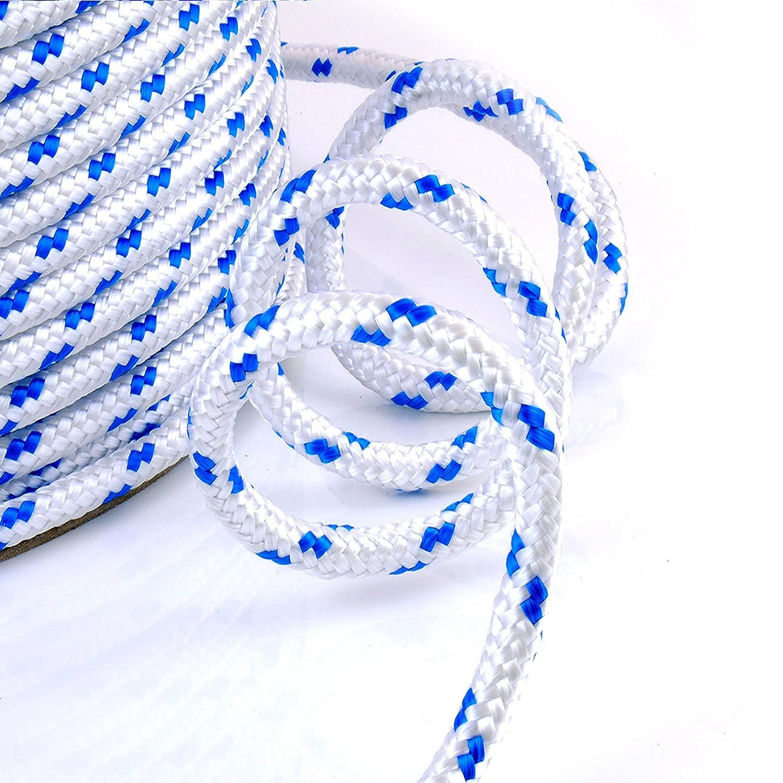 30m blanc corde polypropylene poly cordage 8mm