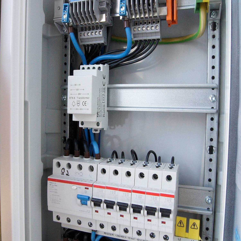 JCL BT8-8 Brand Bell Transformer 8V 12V 24V / 8VA Amazon.co.uk DIY u0026 Tools : 24vac transformer wiring - yogabreezes.com