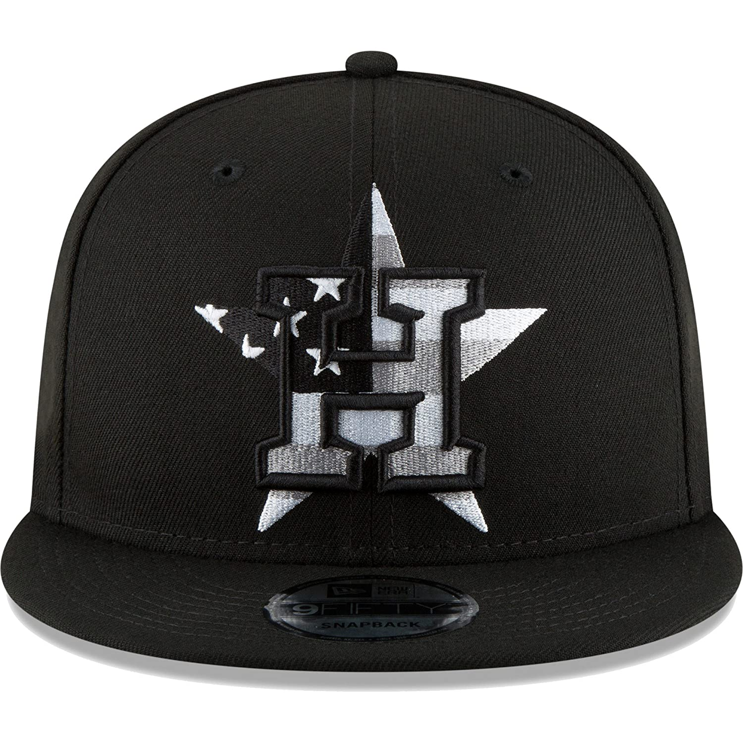 quality design 8a3fe a6eab Amazon.com   Houston Astros New Era Flag Fill 9FIFTY Adjustable Hat Black    Sports   Outdoors