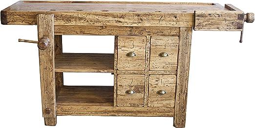 Mesa de carpintero con cajones de madera, 188 x 78 x 92 (altura ...