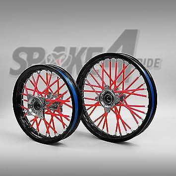 Spoke - Funda para radios, protege los radios de llantas de ruedas de motocross y enduro - 80 unidades: Amazon.es: Coche y moto