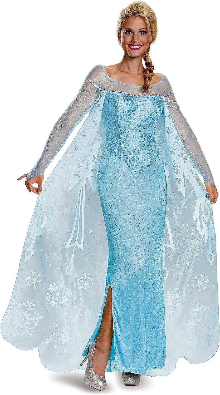 Disfraz de Elsa Frozen prestige para mujer - S: Amazon.es ...