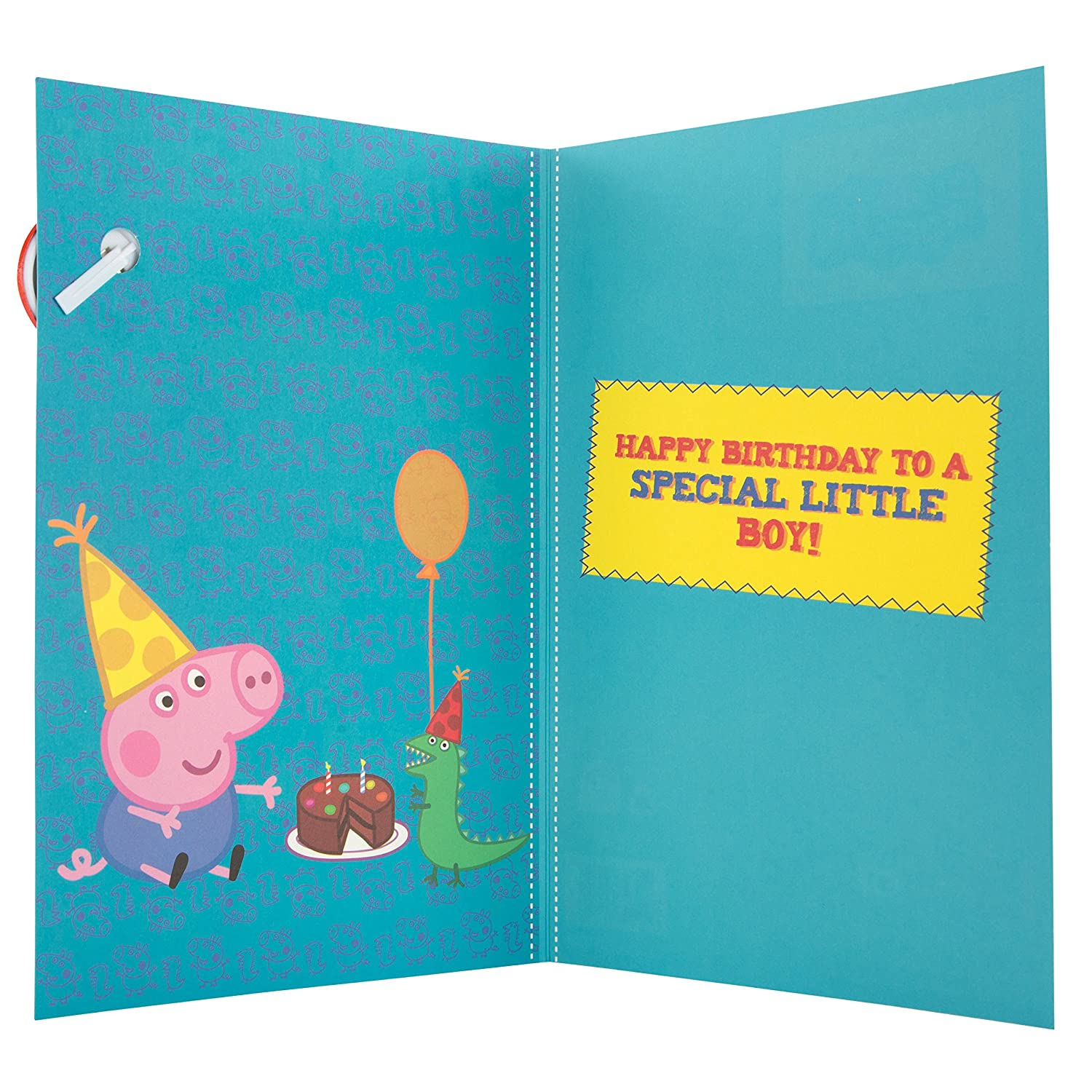Peppa Pig Grandson Birthday Card with Badge Amazon fice