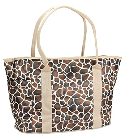a43a942204e9 Amazon.com : JS Multi-Fashion/Multi-Function Mommy Tote Bag (Brown Leopard  Grain) : Beauty