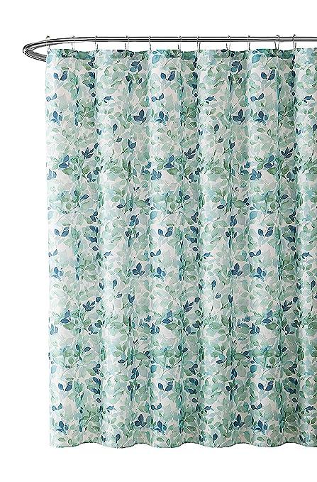 Amazon VCNY Home Bathroom Fabric Shower Curtain Lush Nature