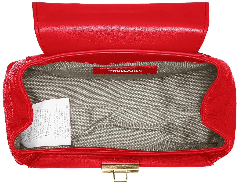 by Trussardi Damen 76B275 Henkeltasche, Rot, 17 cm Trussardi