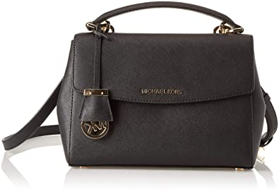 e5253a7925ed Amazon.com: MICHAEL Michael Kors Women's Ava Small Satchel, Black ...