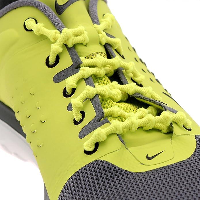 Xtenex Cordones para zapatos unisex, naranja fluorescente/negro, 75 cm