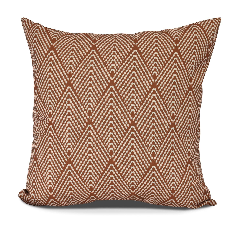 E by design Life Flor Decorative Geometric Throw Pillow, 16', Orange
