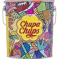Chupa Chups Caramelo con Palo de Sabores Variados - Lata 60 Aniversario de 150 unidades de 12 gr/ud