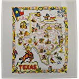 Texas State Map Souvenir Dish Towel