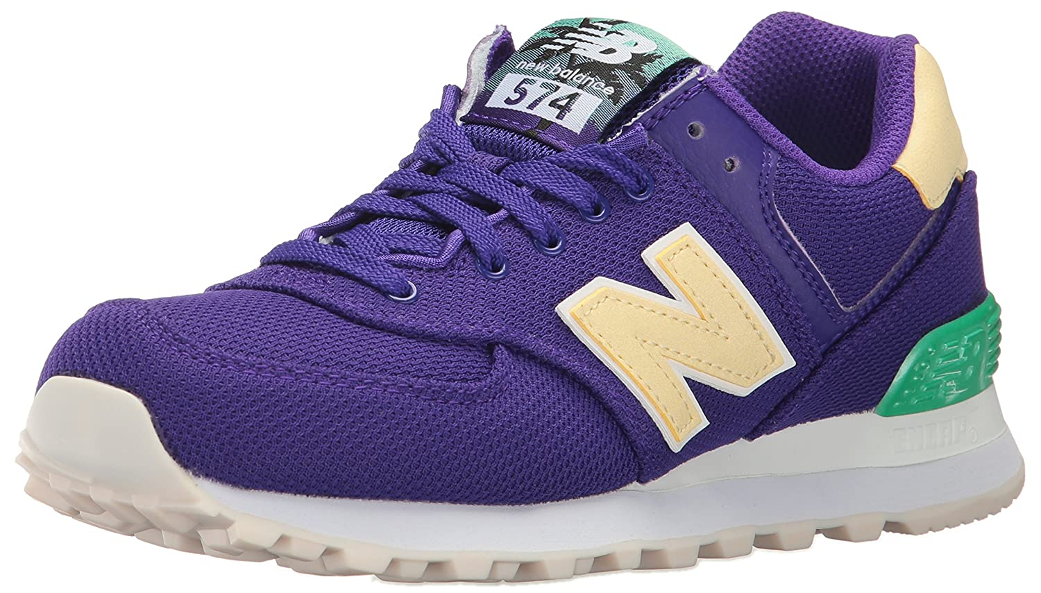 New Balance Women's 574 Miami Palms Pack Lifestyle Fashion Sneaker B01LWPXW6W 5.5 B(M) US|Deep Violet/Pollen