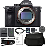 Sony Alpha a7R III Mirrorless Digital Camera (Body Only) with NP-FZ100 Battery, 64gb SDXC 1200x Card, Card Reader, Carrying c