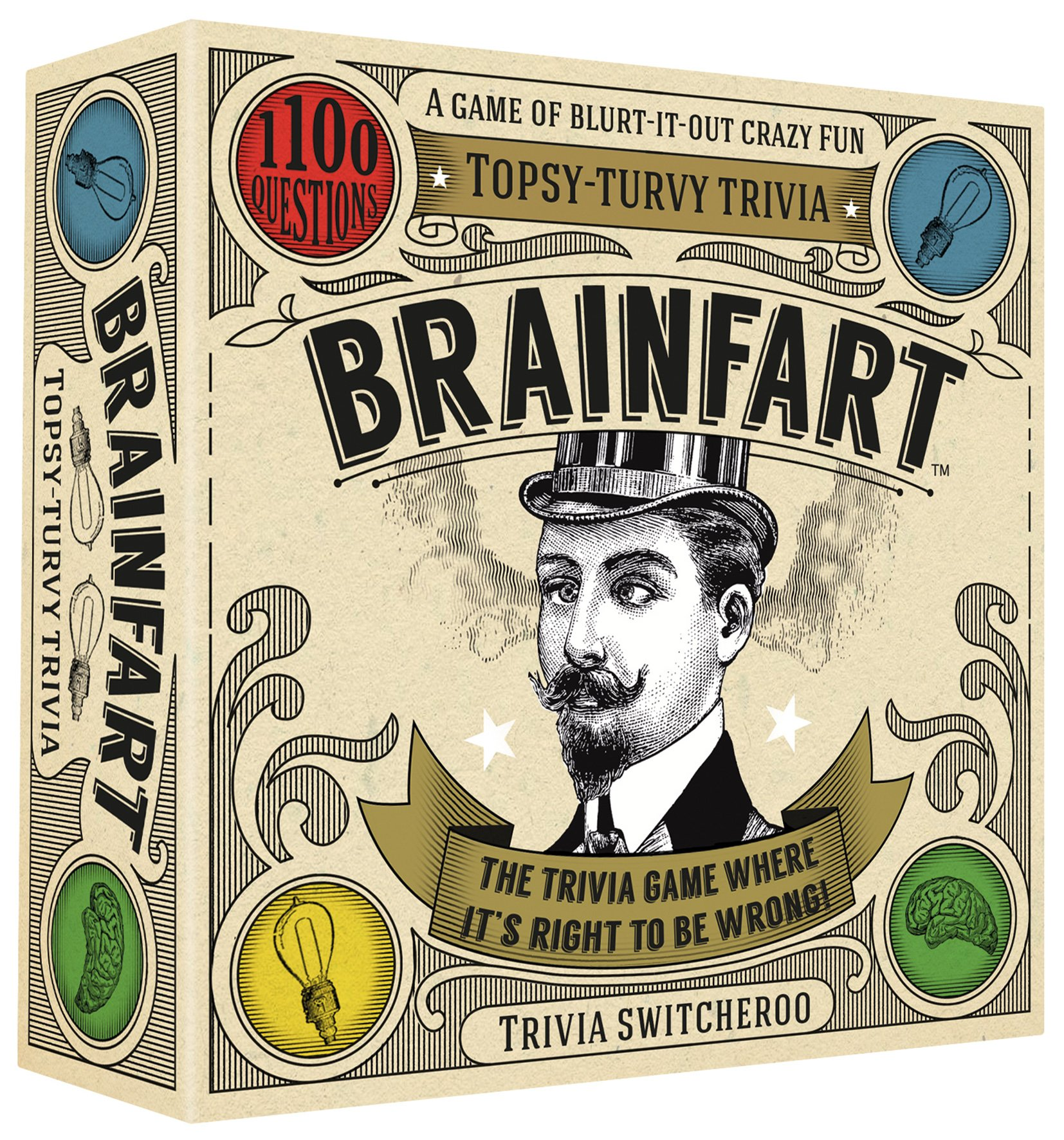 Hygge Games Brainfart Topsy Turvy Trivia Game
