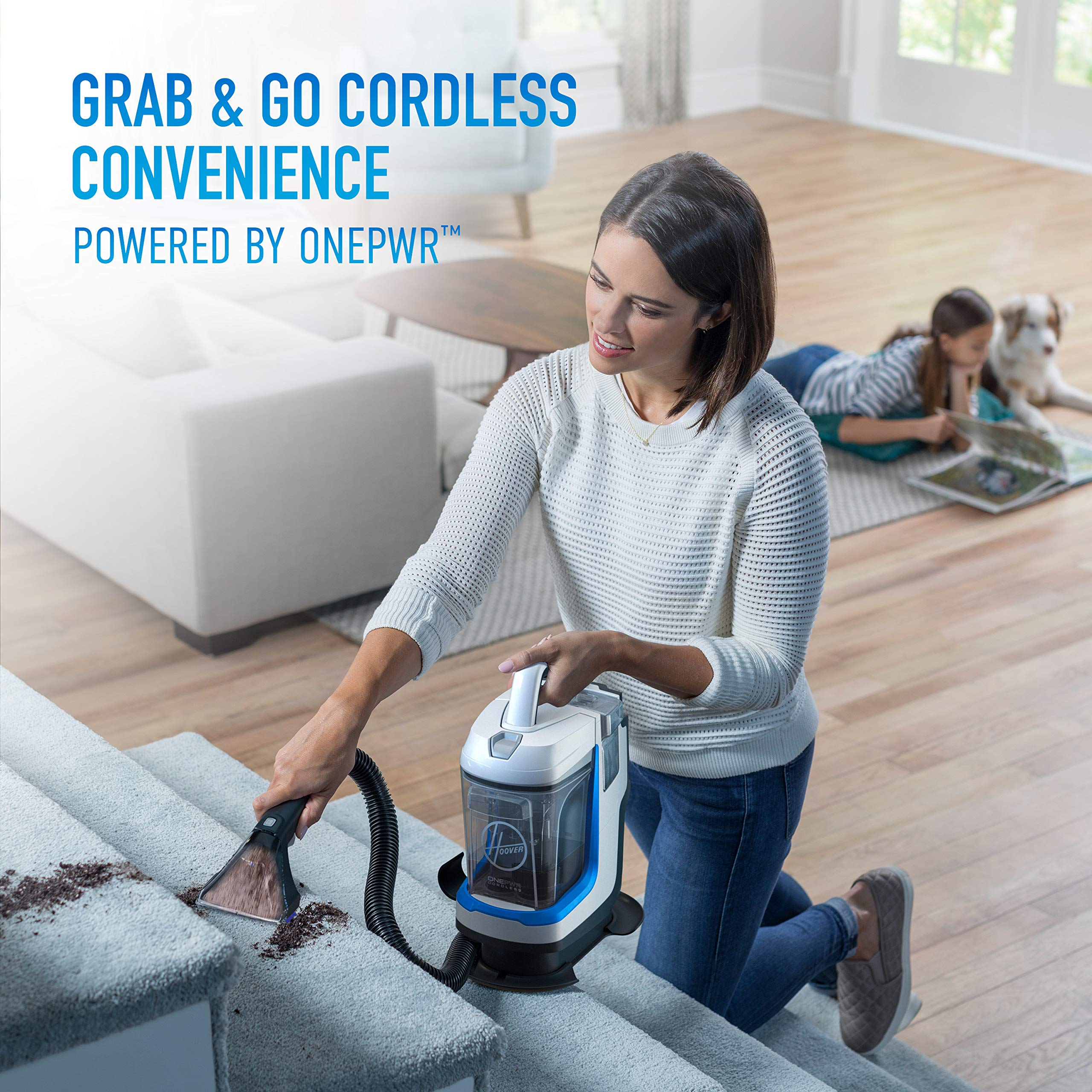 Hoover ONEPWR Spotless GO Cordless Carpet and Upholstery Cleaner, Portable, Lightweight, BH12001, White by Hoover (Image #2)