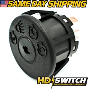 Craftsman Ignition Starter Switch Replacement Part for Riding Lawn Mower Tractor - with Headlights - HD Switch