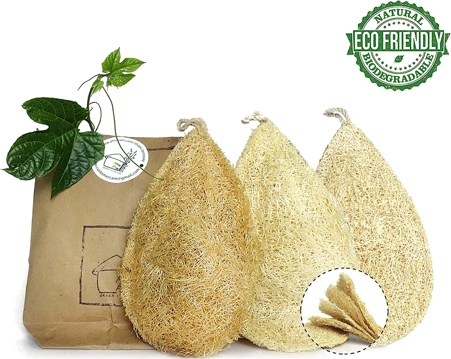100% Loofah Plant Cellulose Scouring Pad