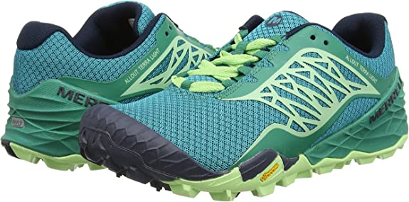 Merrell All out Terra Light - Zapatos de Trail Running, Color Verde, Talla 42: Amazon.es: Zapatos y complementos