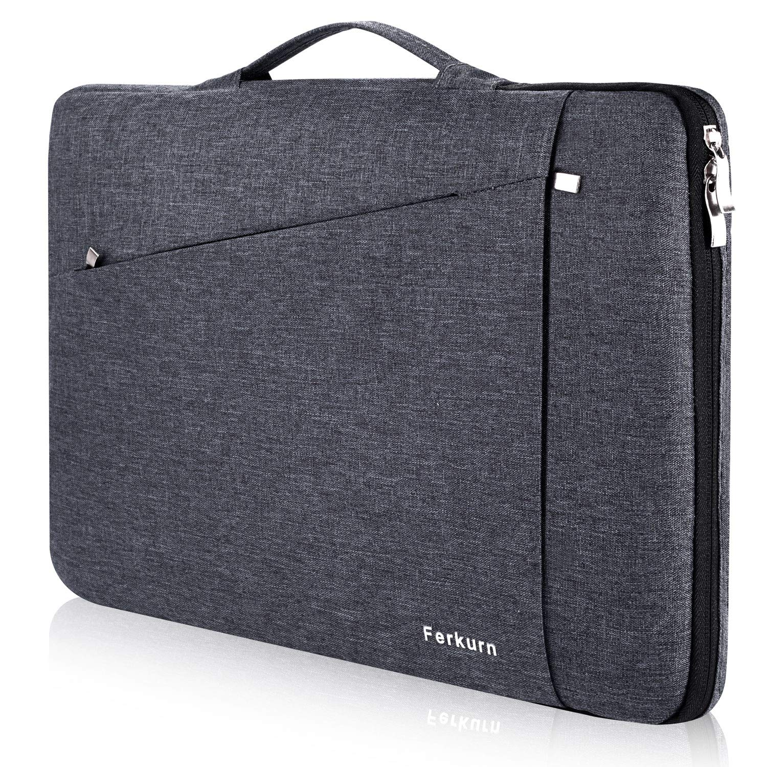 Ferkurn 13 inch 13.3 inch Laptop Sleeve with Handle Compatible MacBook air 13.3,MacBook pro 13,Dell XPS, HP, Surface Laptop, iPad Pro 12.9, Waterproof Laptop Case Bag-Grey