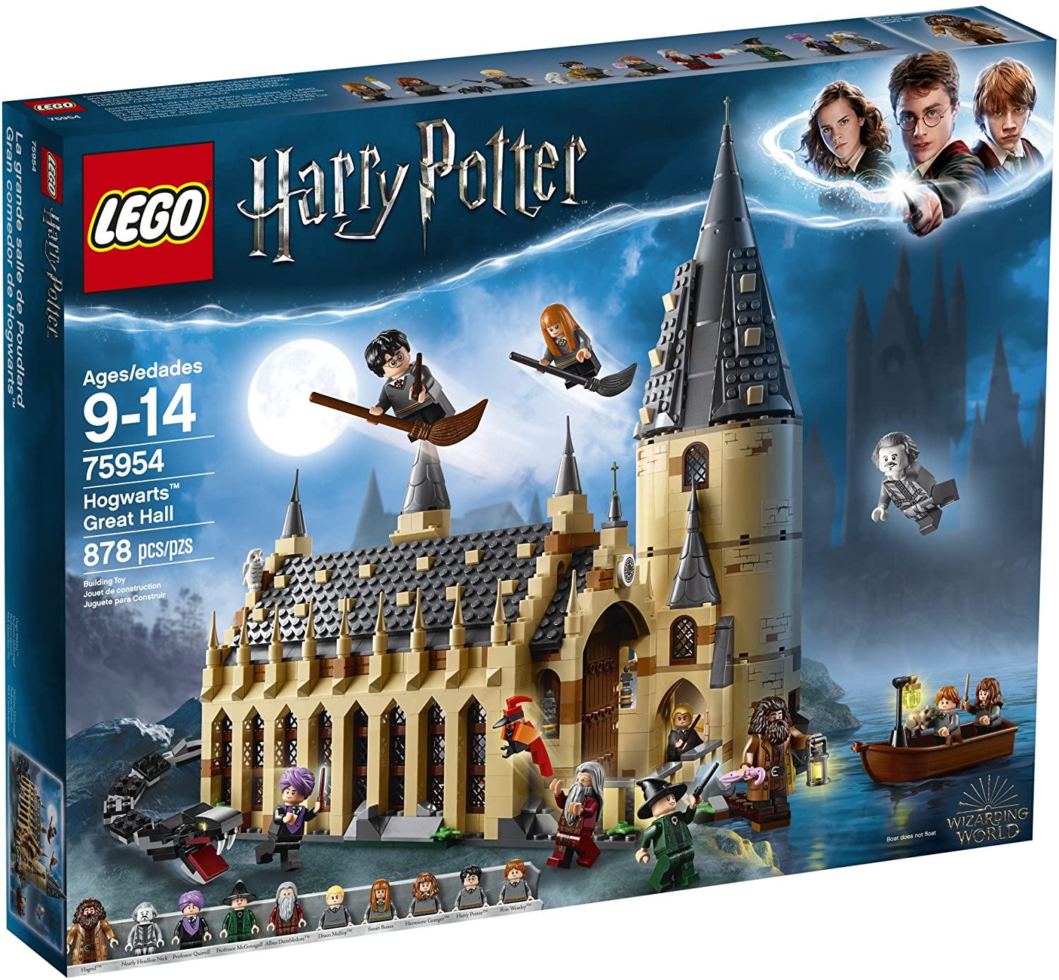 Lego Harry Potter Hogwarts Great Hall 75954 Building Kit And Magic Castle Toy Fantasy Creatures Hermione Granger Draco Malfoy And Hagrid 878 Pieces Building Sets Amazon Canada