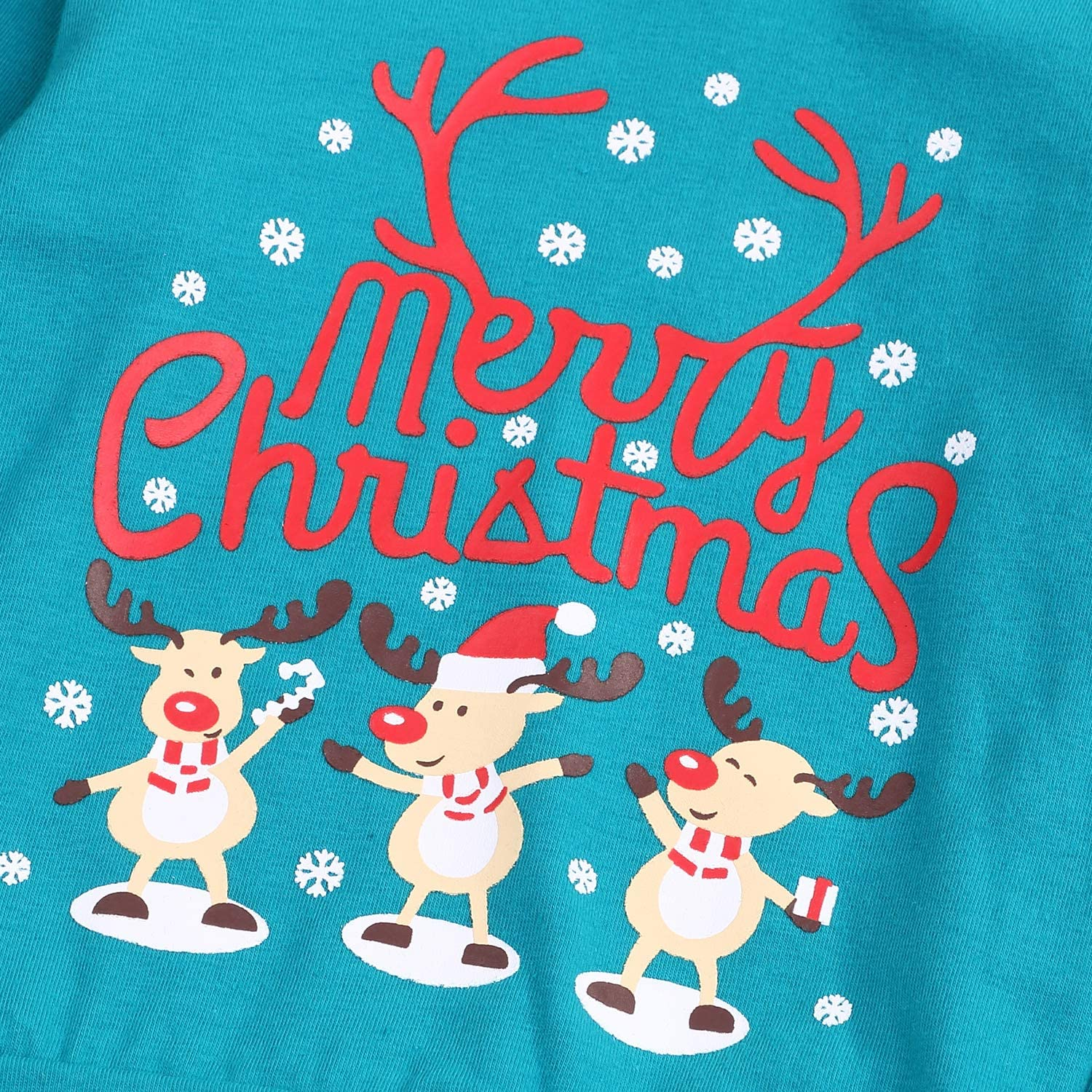 Christmas Outfit Infant Baby Girl Snowman Long Sleeve T-Shirt Top Cotton Long Pants 2pcs Fall//Winter Pajamas Clothes Set