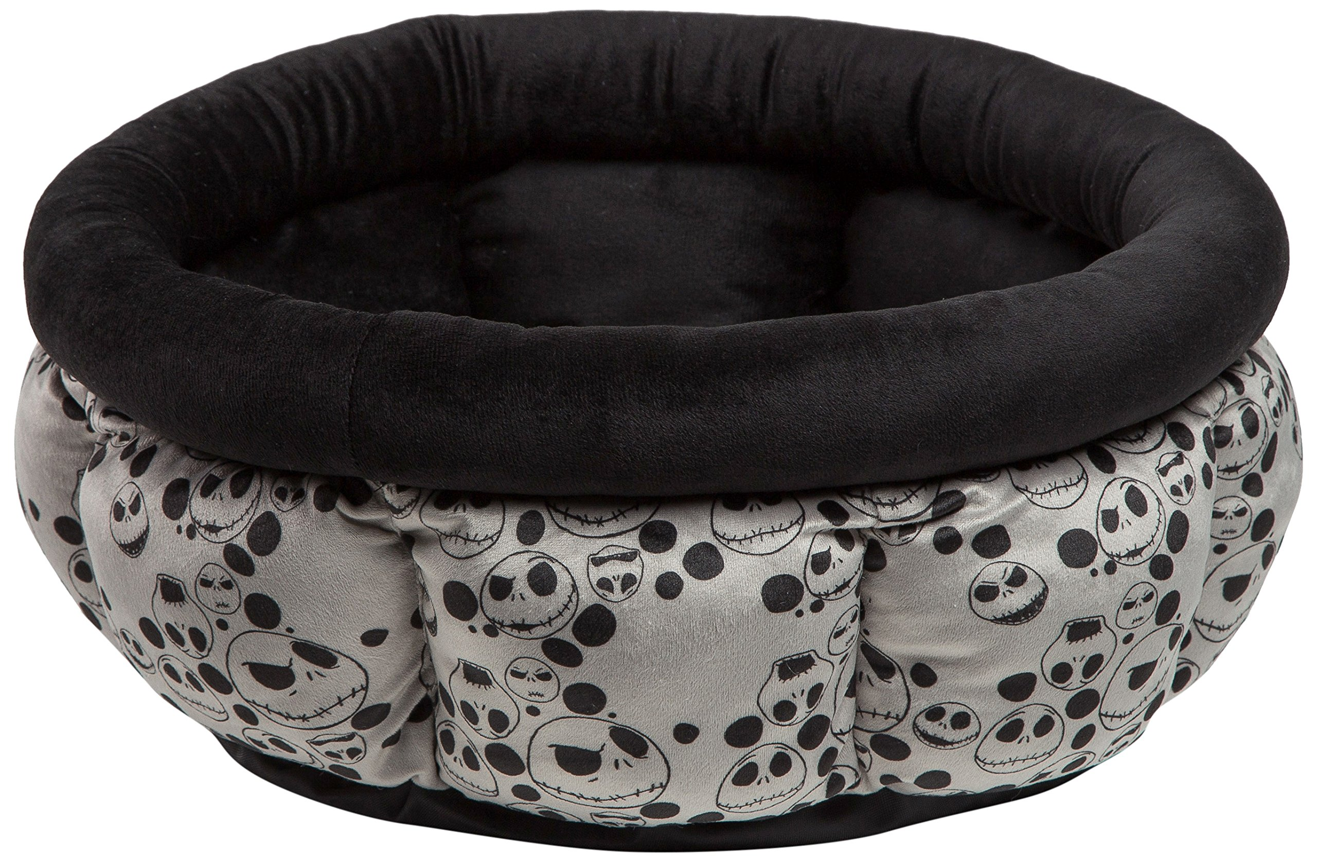 Disney Nightmare Before Christmas Jack Skellington Cuddle Cup Dog Bed / Cat Bed, Machine Washable, Dirt/Water Resistant Bottom, High Walls for Deeper Rest, For Pets up to 12lbs