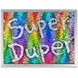 """Décor 5 – Reversible Mermaid Sensory Sequins DIY Drawing Wall Art - 12'' x 16"""" - Shiny Rainbow Sequins with Silver Frame"""