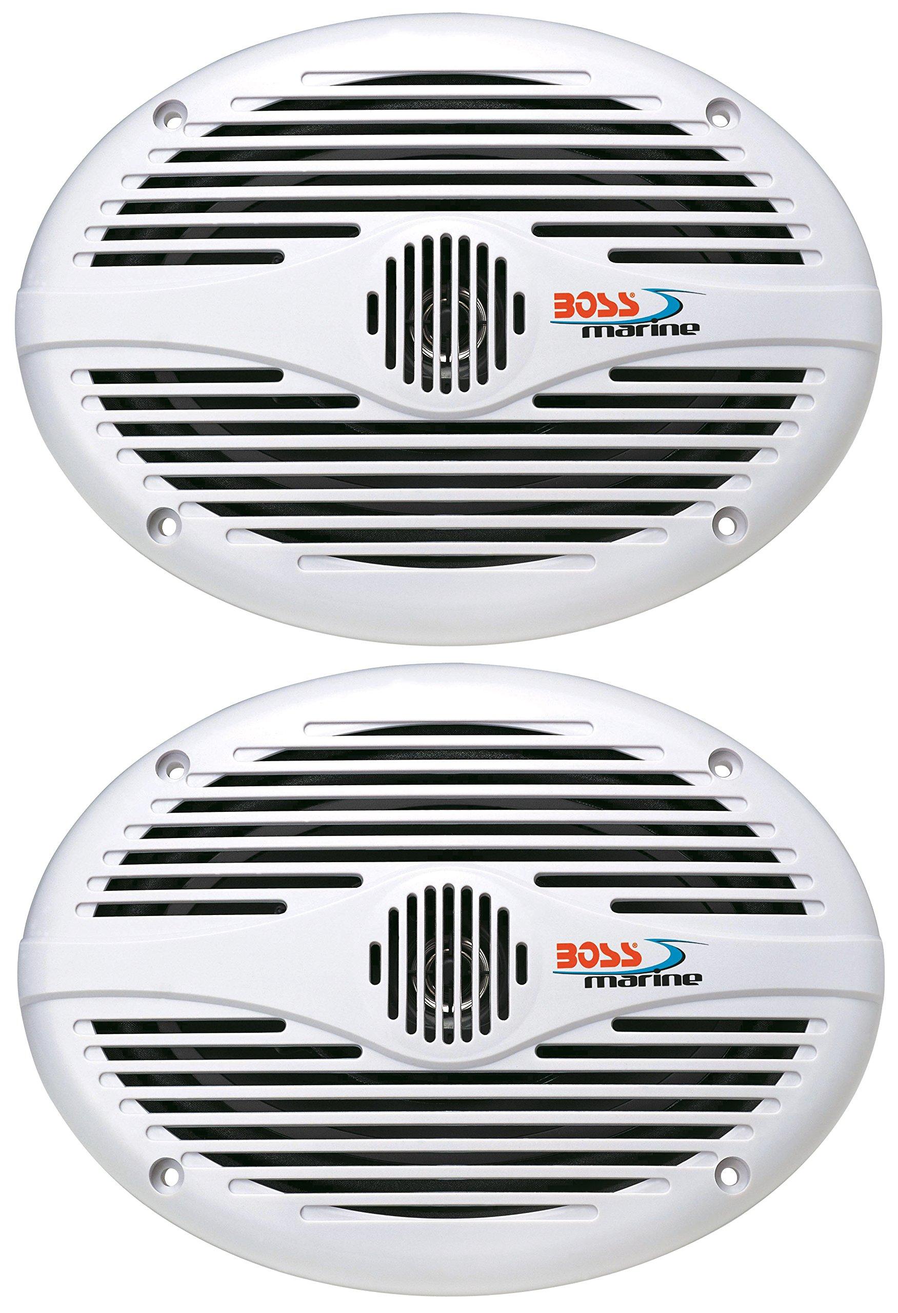 BOSS Audio Systems MR690 350 Watt Per Pair, 6 x 9 Inch, Full Range, 2 Way Weatherproof Marine Speakers Sold in Pairs by BOSS Audio Systems