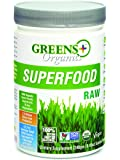 Greens Plus Organics Super-Food Raw | Non GMO | Dietary Supplement Greens Powder - 8.46 Oz