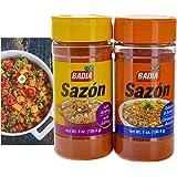 Badia Sazon w/ Saffron and Sazon w/ Coriander & Annatto Seasoning Bundle (Set of 2) - Seasonings for Chicken, Spanish Dishes,